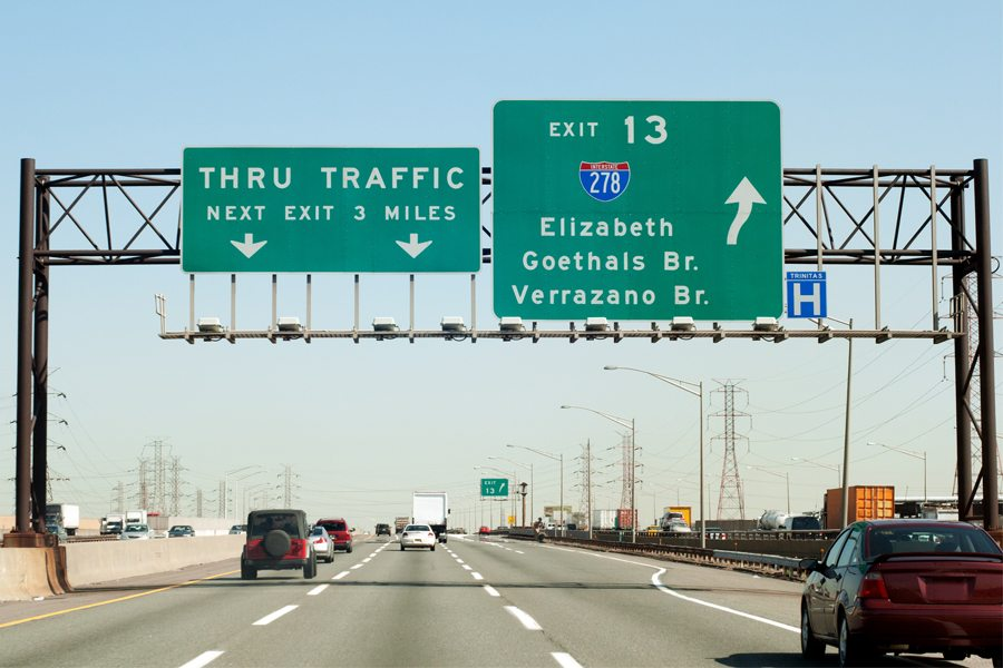 Photo of NJ Turnpike sign for Exit 13; our Flemington, NJ marketing firm understands NJ is more than just highways